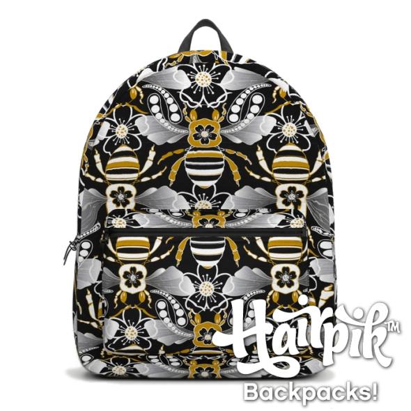 beats-n-bees-black-gold--silver-backpacks